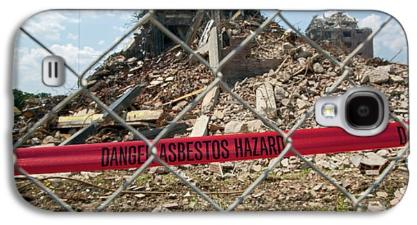 Asbestos Demolition Hazard Warning Galaxy S4 Case