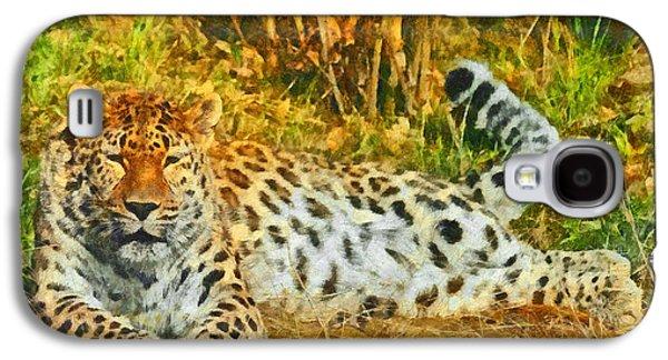 Asian Snow Leopard Galaxy S4 Case