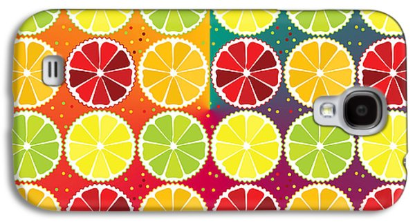 Assorted Citrus Pattern Galaxy S4 Case