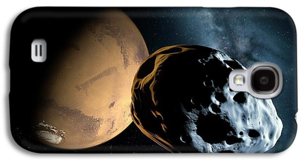 Asteroid Approaching Mars Galaxy S4 Case by Detlev Van Ravenswaay