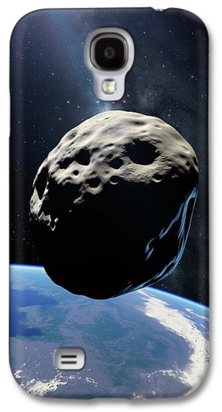 Asteroid Passing Earth Galaxy S4 Case by Detlev Van Ravenswaay