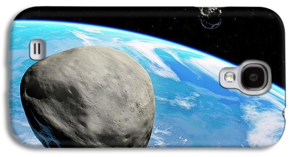 Asteroids Approaching Earth Galaxy S4 Case by Detlev Van Ravenswaay