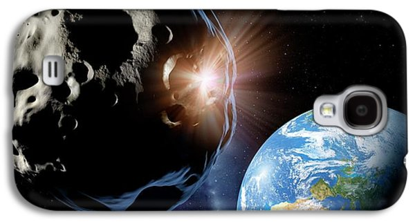 Asteroids Colliding Near Earth Galaxy S4 Case by Detlev Van Ravenswaay