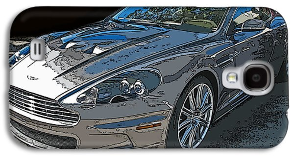 Aston Martin Db S Coupe 3/4 Front View Galaxy S4 Case by Samuel Sheats
