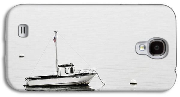 At Anchor Bar Harbor Maine Black And White Galaxy S4 Case by Carol Leigh