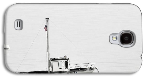 At Anchor Bar Harbor Maine Black And White Square Galaxy S4 Case by Carol Leigh