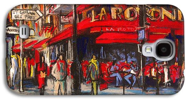 At The Cafe De La Rotonde Paris Galaxy S4 Case by Mona Edulesco