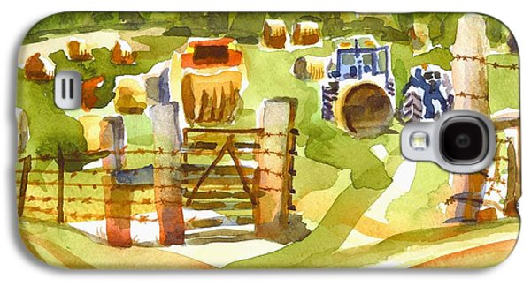 At The Farm Baling Hay Galaxy S4 Case by Kip DeVore