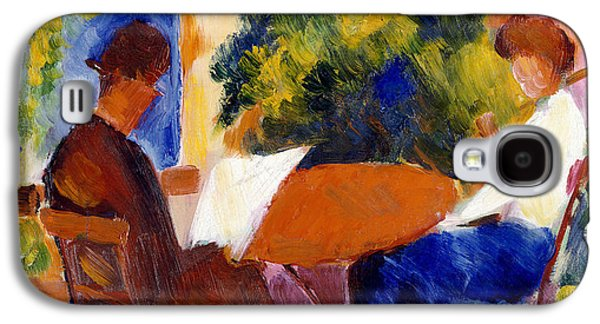 Garden Galaxy S4 Case - At The Garden Table by August Macke