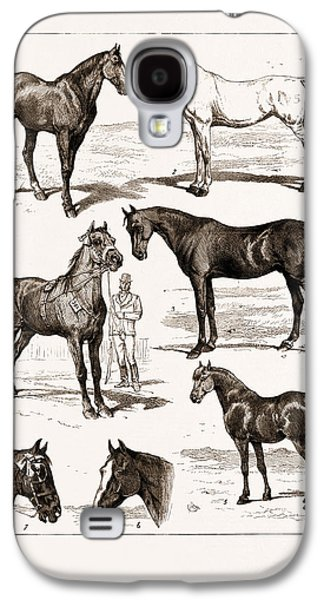At The Islington Horse Show, London, Uk, 1875 1 Galaxy S4 Case by Litz Collection