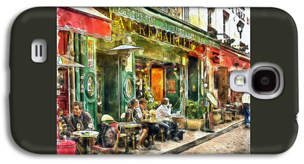 At The Restaurant In Paris Galaxy S4 Case by Marian Voicu