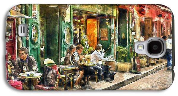 At The Restaurant In Paris Galaxy S4 Case by Marian Voicu