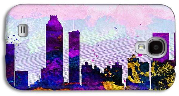 Atlanta City Skyline Galaxy S4 Case by Naxart Studio