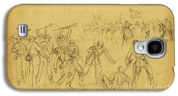 Attack On The Rear Guard. Amelia Ct. Ho. Galaxy S4 Case by Celestial Images