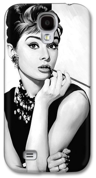 Audrey Hepburn Artwork Galaxy S4 Case by Sheraz A