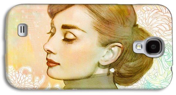 Audrey Hepburn Galaxy S4 Case by Catherine Noel