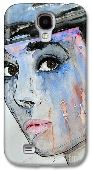 Audrey Hepburn - Painting Galaxy S4 Case by Ismeta Gruenwald