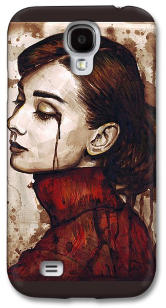 Audrey Hepburn - Quiet Sadness Galaxy S4 Case by Olga Shvartsur