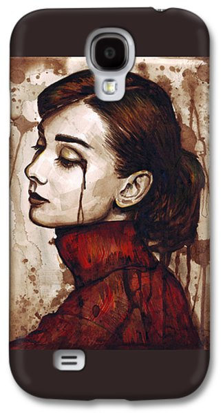 Audrey Hepburn - Quiet Sadness Galaxy S4 Case