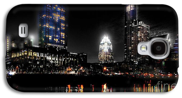 Austin Night Skyline Reflections  Galaxy S4 Case by Gary Gibich