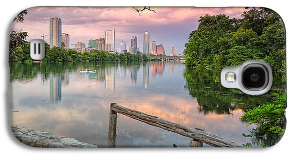 Geese Galaxy S4 Case - Austin Skyline From Lou Neff Point by Silvio Ligutti