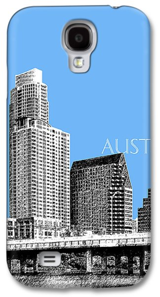 Austin Skyline - Sky Blue Galaxy S4 Case by DB Artist