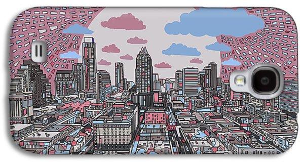 Austin Texas Abstract Panorama 3 Galaxy S4 Case