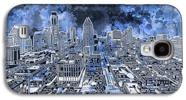 Austin Texas Abstract Panorama 5 Galaxy S4 Case