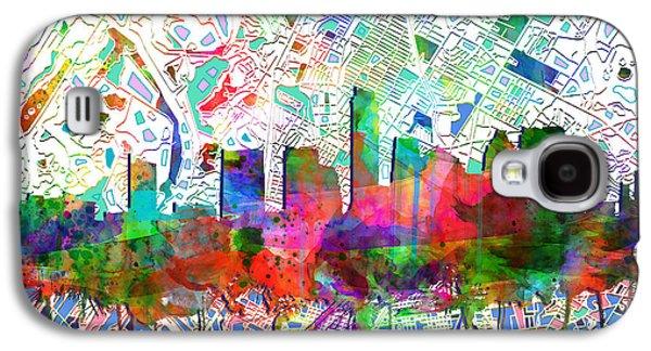 Austin Texas Abstract Panorama 7 Galaxy S4 Case