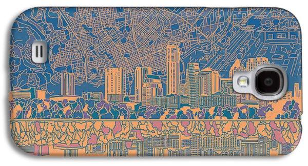 Austin Texas Skyline 2 Galaxy S4 Case