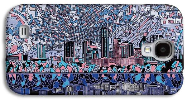 Austin Texas Skyline 3 Galaxy S4 Case