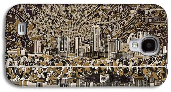Austin Texas Skyline 5 Galaxy S4 Case by Bekim Art