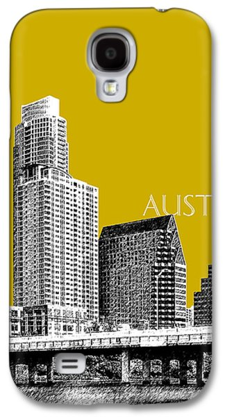 Austin Texas Skyline - Gold Galaxy S4 Case by DB Artist