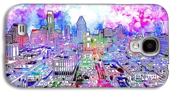 Austin Texas Watercolor Panorama Galaxy S4 Case