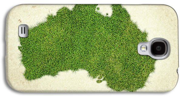 Australia Grass Map Galaxy S4 Case by Aged Pixel