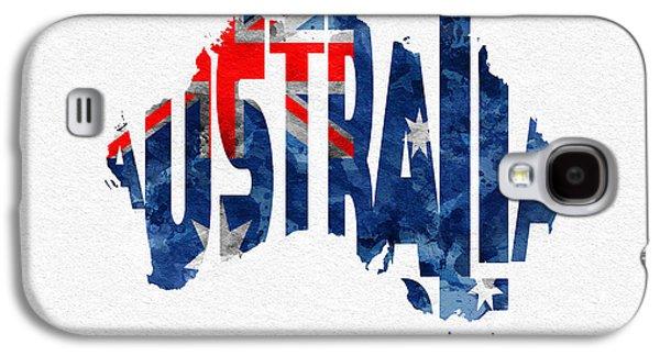Australia Typographic World Map Galaxy S4 Case