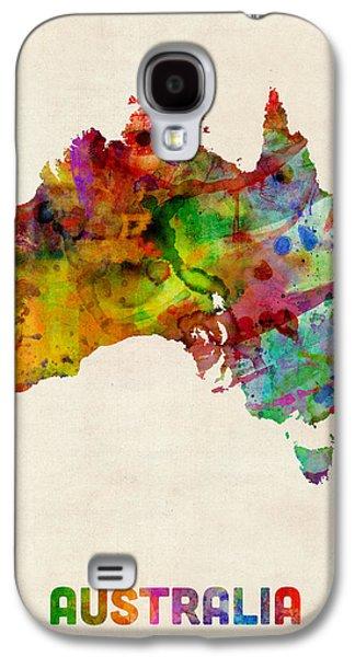 Australia Watercolor Map Galaxy S4 Case