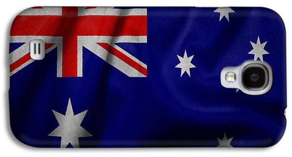 Australian Flag Waving On Canvas Galaxy S4 Case by Eti Reid