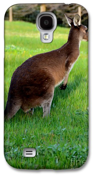 Australian Kangaroo At Sunset Galaxy S4 Case by Phill Petrovic