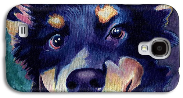 Australian Shepard Dog Portrait Galaxy S4 Case by Robyn Saunders