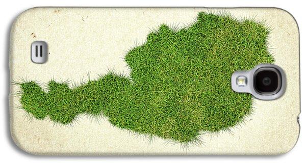 Austria Grass Map Galaxy S4 Case by Aged Pixel