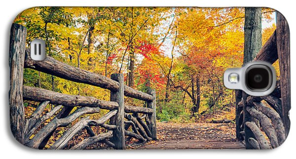 Autumn Bridge - Central Park - New York City Galaxy S4 Case