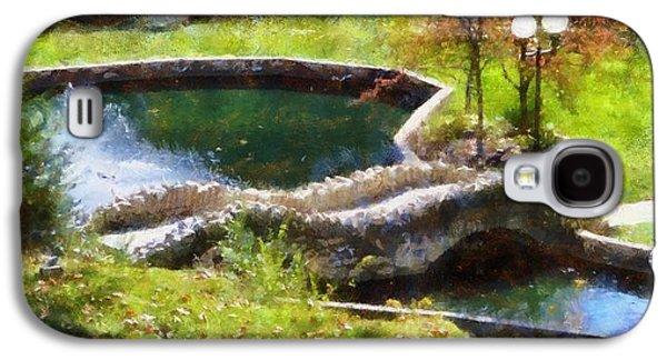 Autumn Bridge In Indiana Galaxy S4 Case by Dan Sproul