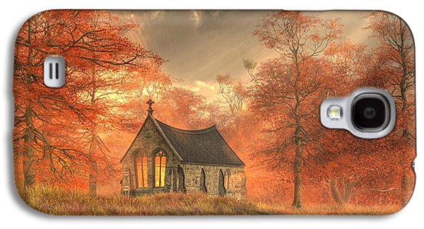 Autumn Chapel Galaxy S4 Case by Christian Art
