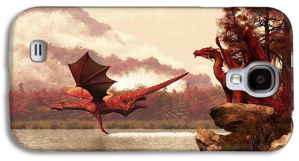 Dungeon Galaxy S4 Case - Autumn Dragons by Daniel Eskridge