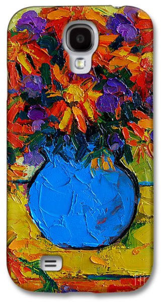 Autumn Flowers Galaxy S4 Case by Mona Edulesco
