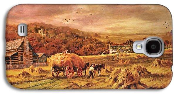 Autumn Folk Art - Haying Time Galaxy S4 Case
