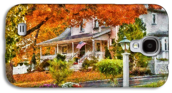 Autumn - House - The Beauty Of Autumn Galaxy S4 Case