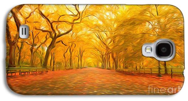 Autumn In Central Park Galaxy S4 Case by Veikko Suikkanen