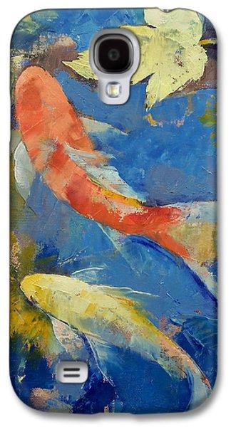 Autumn Koi Garden Galaxy S4 Case by Michael Creese